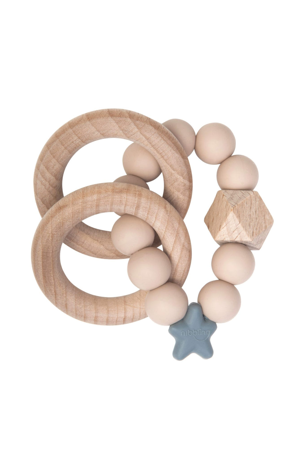 Nibbling Stellar Natural Wood Teething Toy – Oat