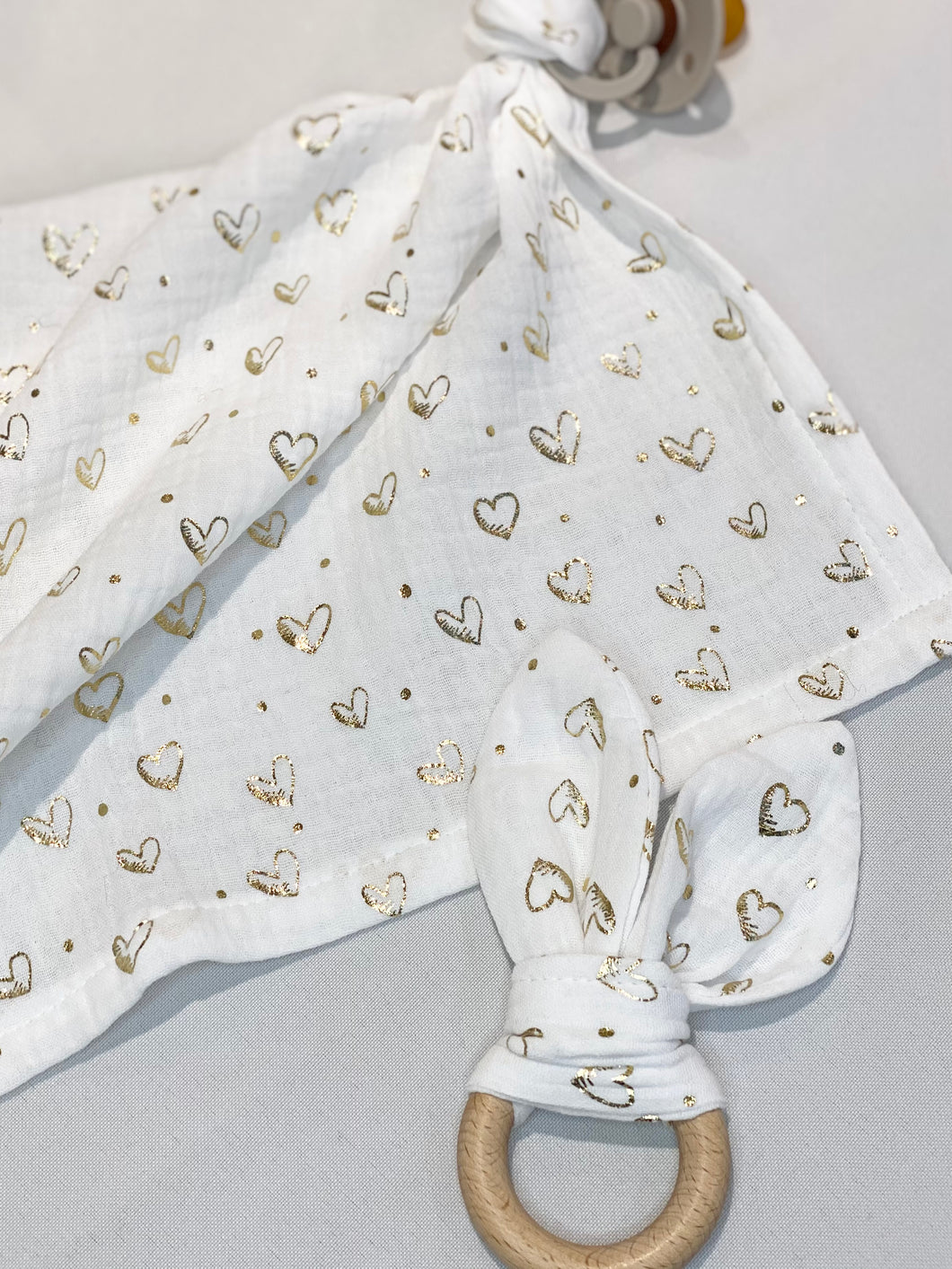 Gold Hearts Mini Muslin