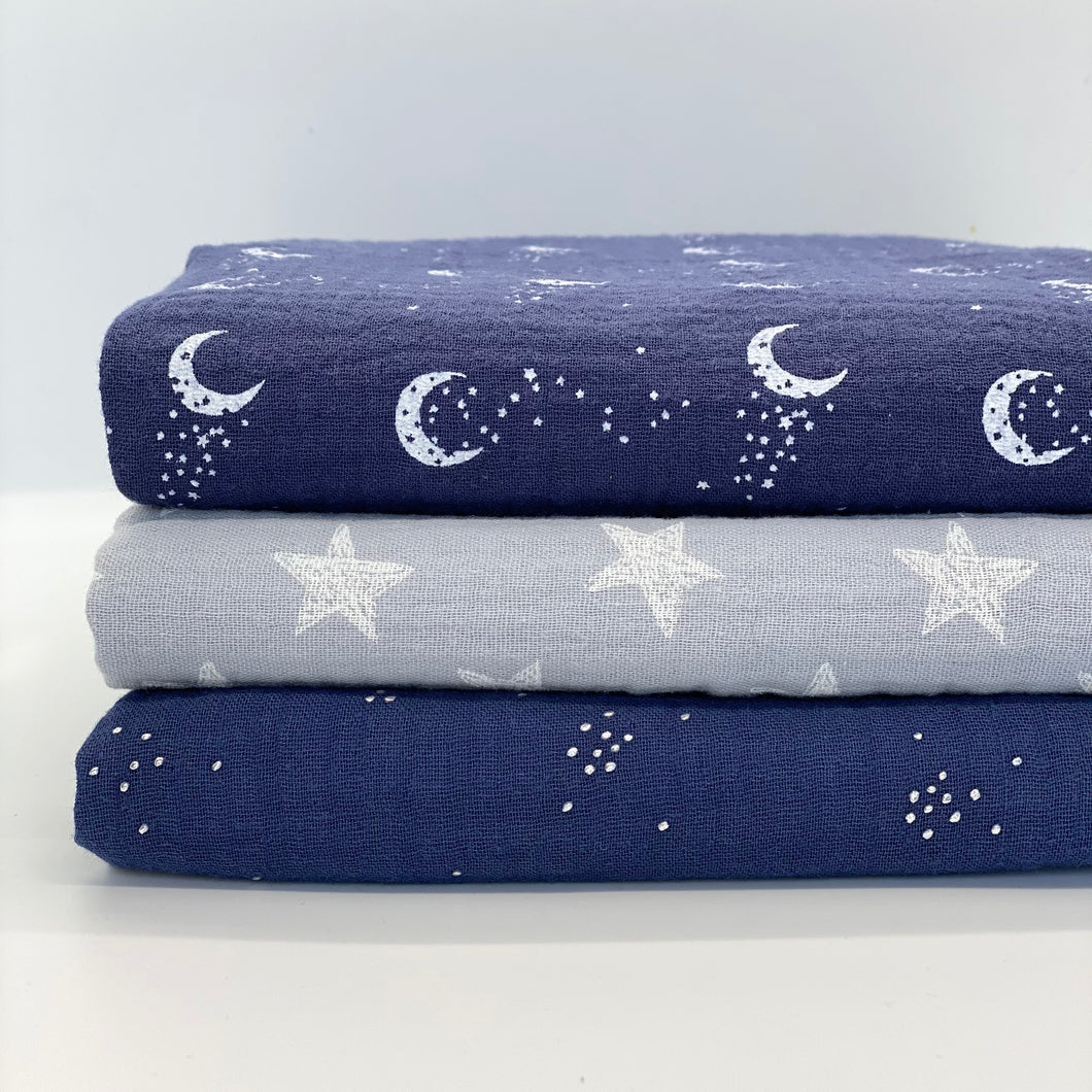 Midnight Sky Set of 3 Muslins