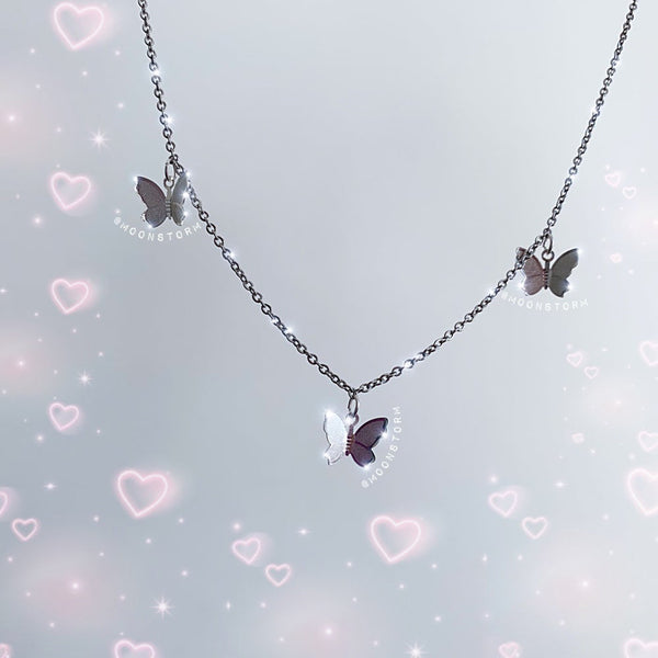 Butterfly Fly Away Triple Necklace