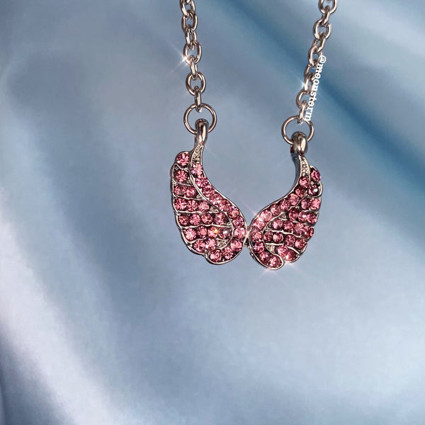 Pink Heavenly Wings Necklace