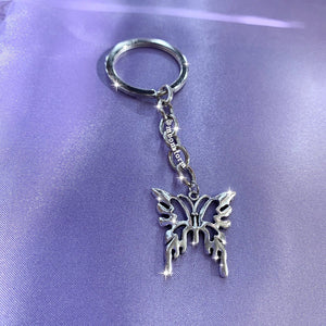Tribal Butterfly Keychain