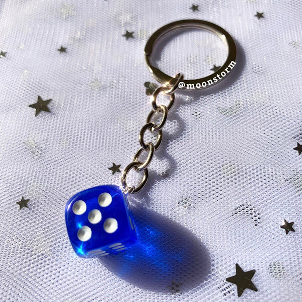 Retro Dice Keychain (More Colors)