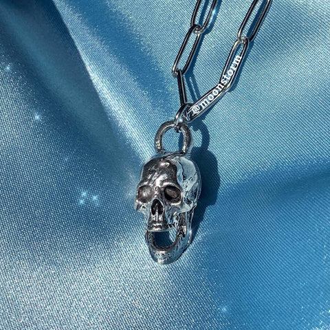 Skull Paperclip Necklace