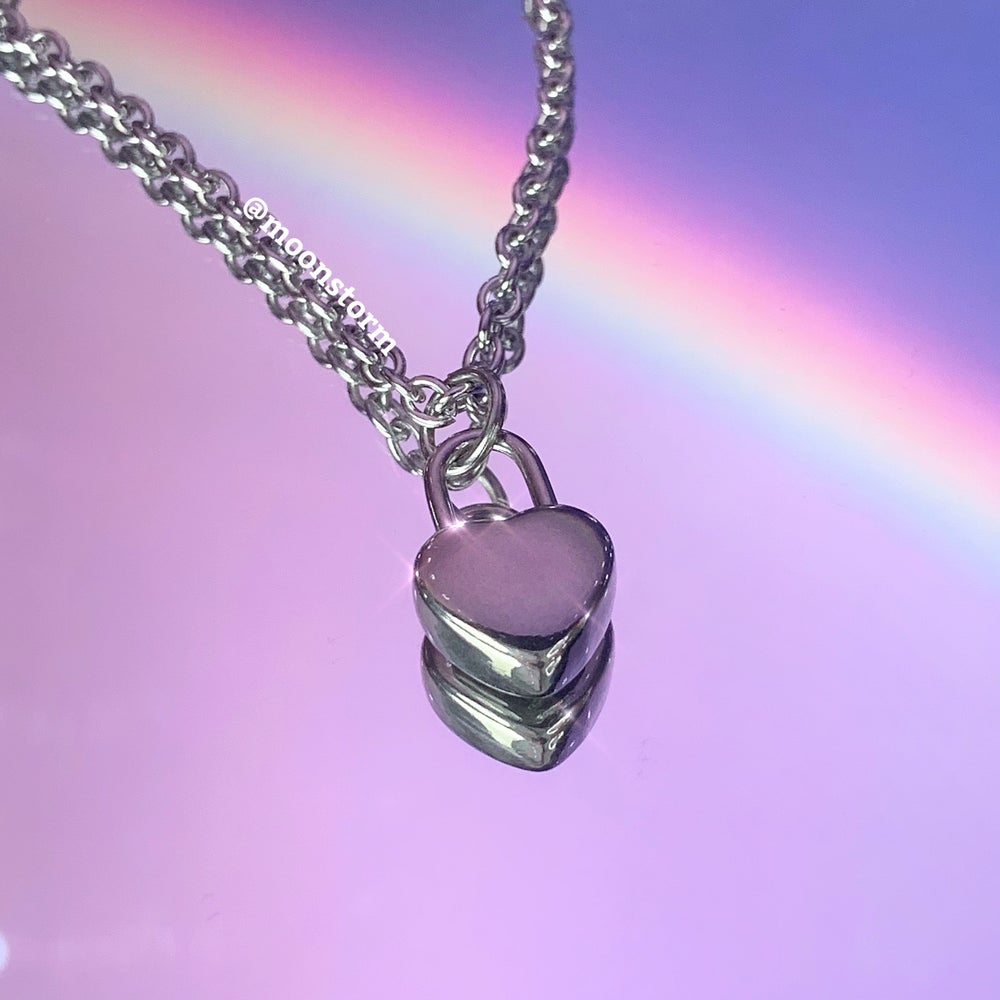 Guarded Heart Lock Necklace