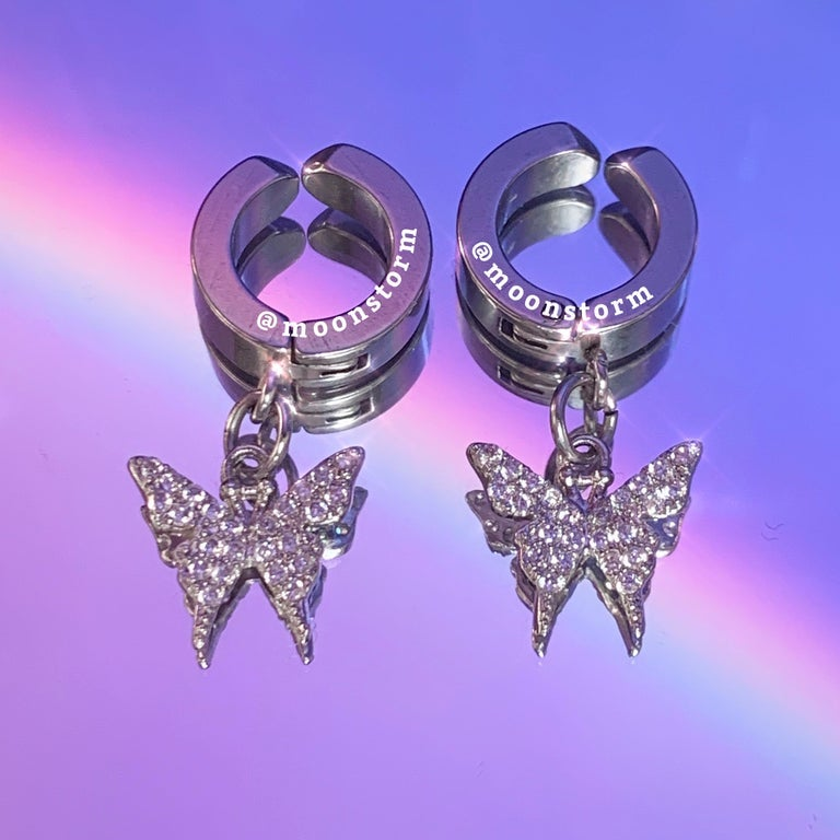 Butterfly Effect Clip On Hoop Earrings