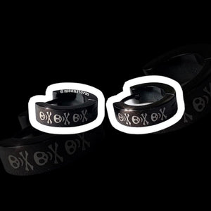 Black Revenge Skull Hoop Earrings