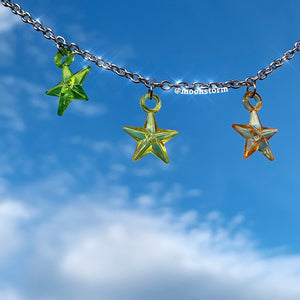 Multicolor Star Necklace