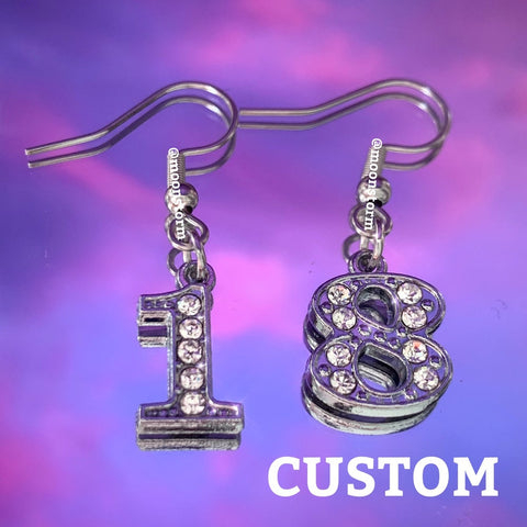Custom Number Earrings