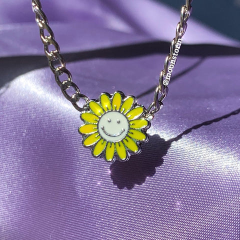 Happy Sunflower Necklace