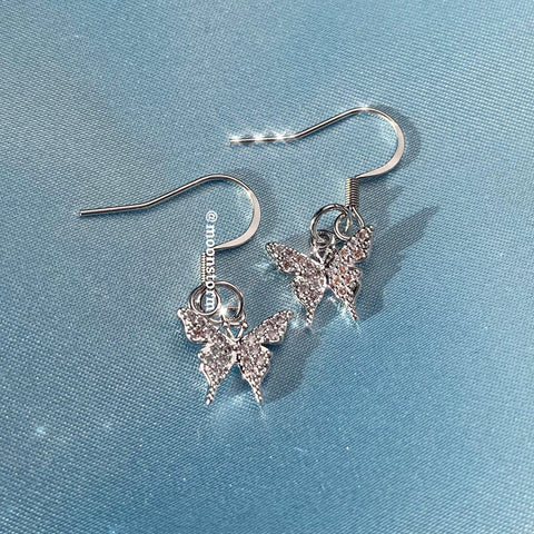 Silver Butterfly Effect Earrings