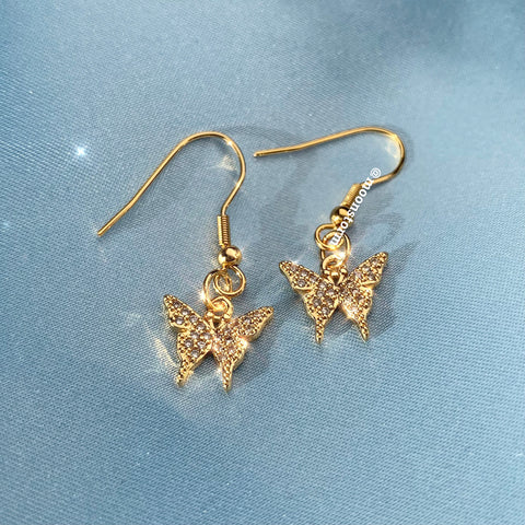 Gold Butterfly Effect Earrings