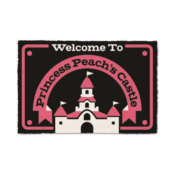 Nintendo Super Mario Welcome To Princess Peach's Castle Door Mat