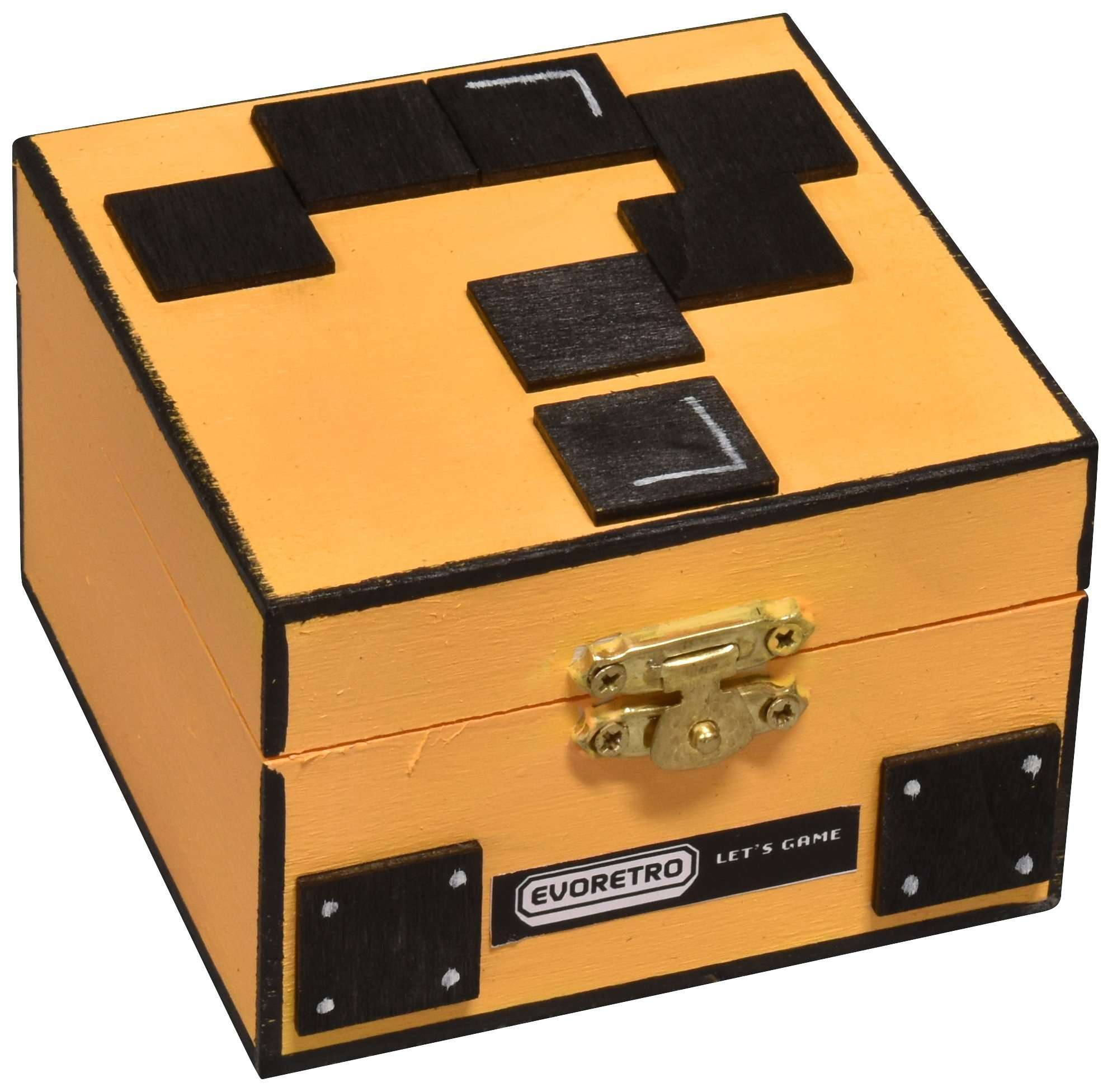 DECORATIVE YELLOW MYSTERY BOX - EvoRetro Lets Game