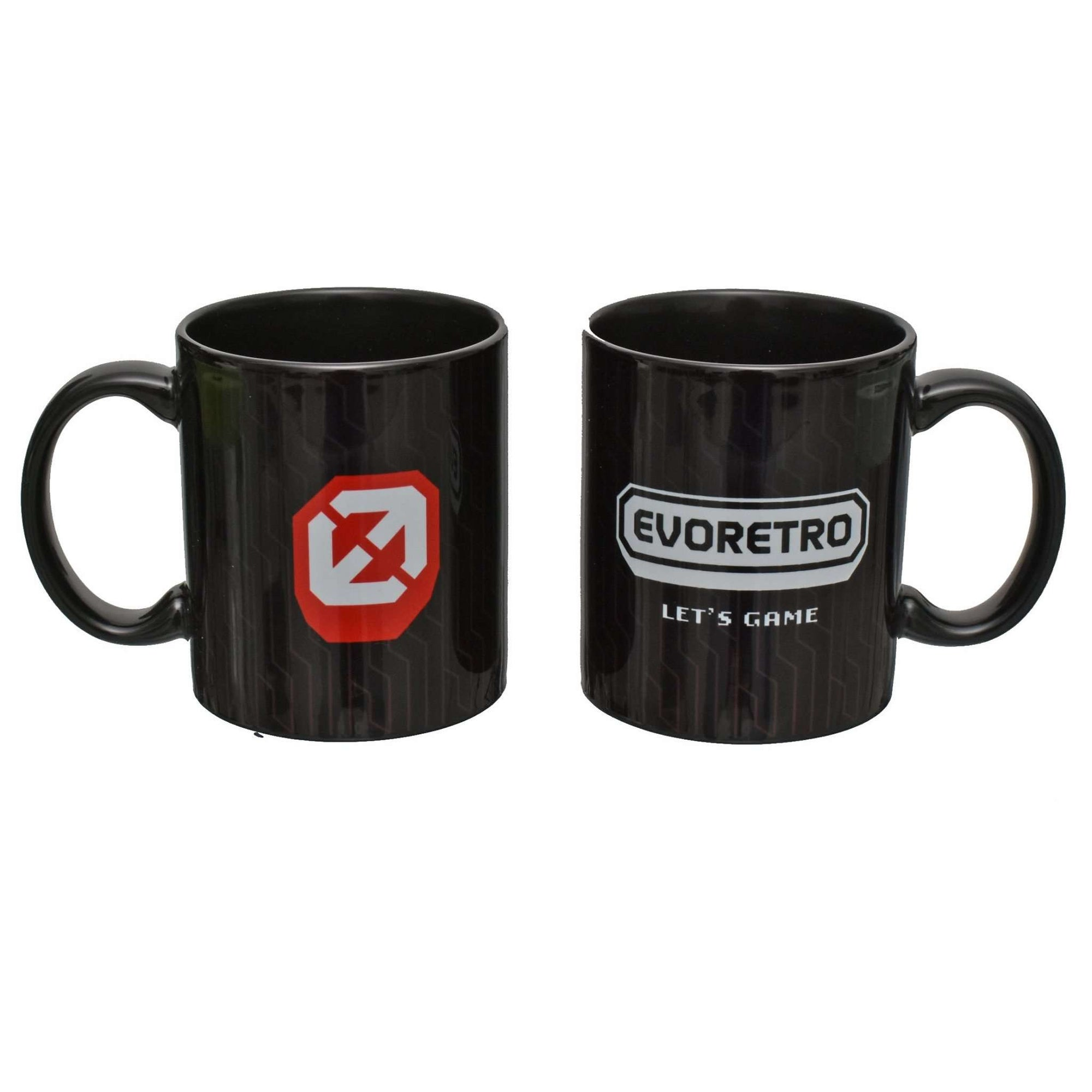EVORETRO Ceramic Black Mug - EvoRetro Lets Game