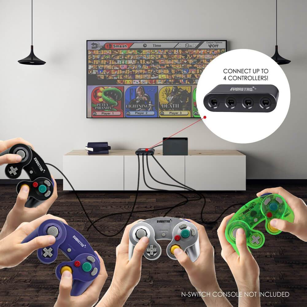 EVORETRO GAMECUBE 4-WAY ADAPTER - EvoRetro Lets Game