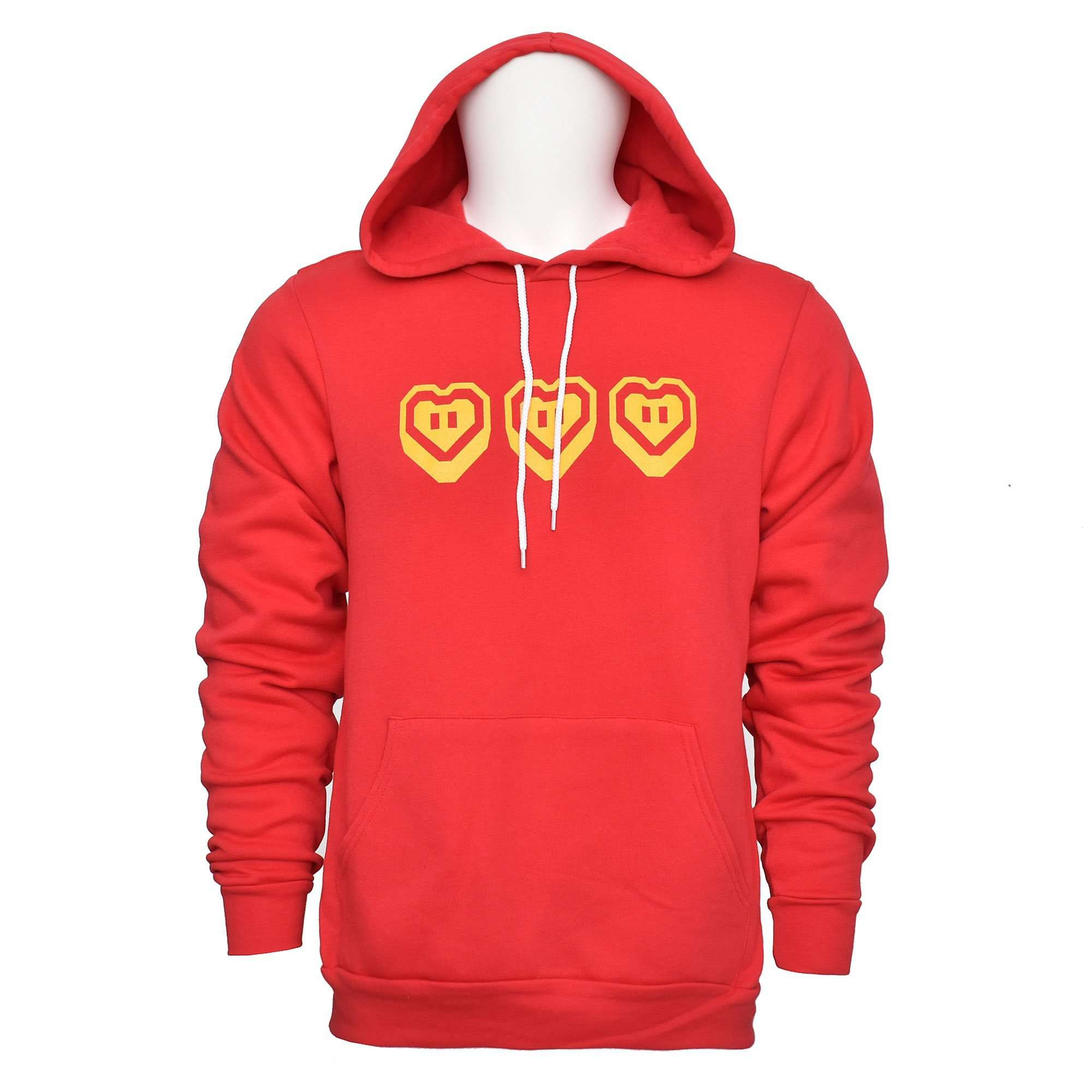 EVORETRO Heart Adult Hoodie - EvoRetro Lets Game