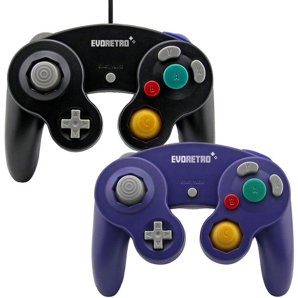 NINTENDO PACK OF 2 GAMECUBE CONTROLLER & 6FT EXTENSION - EvoRetro Lets Game