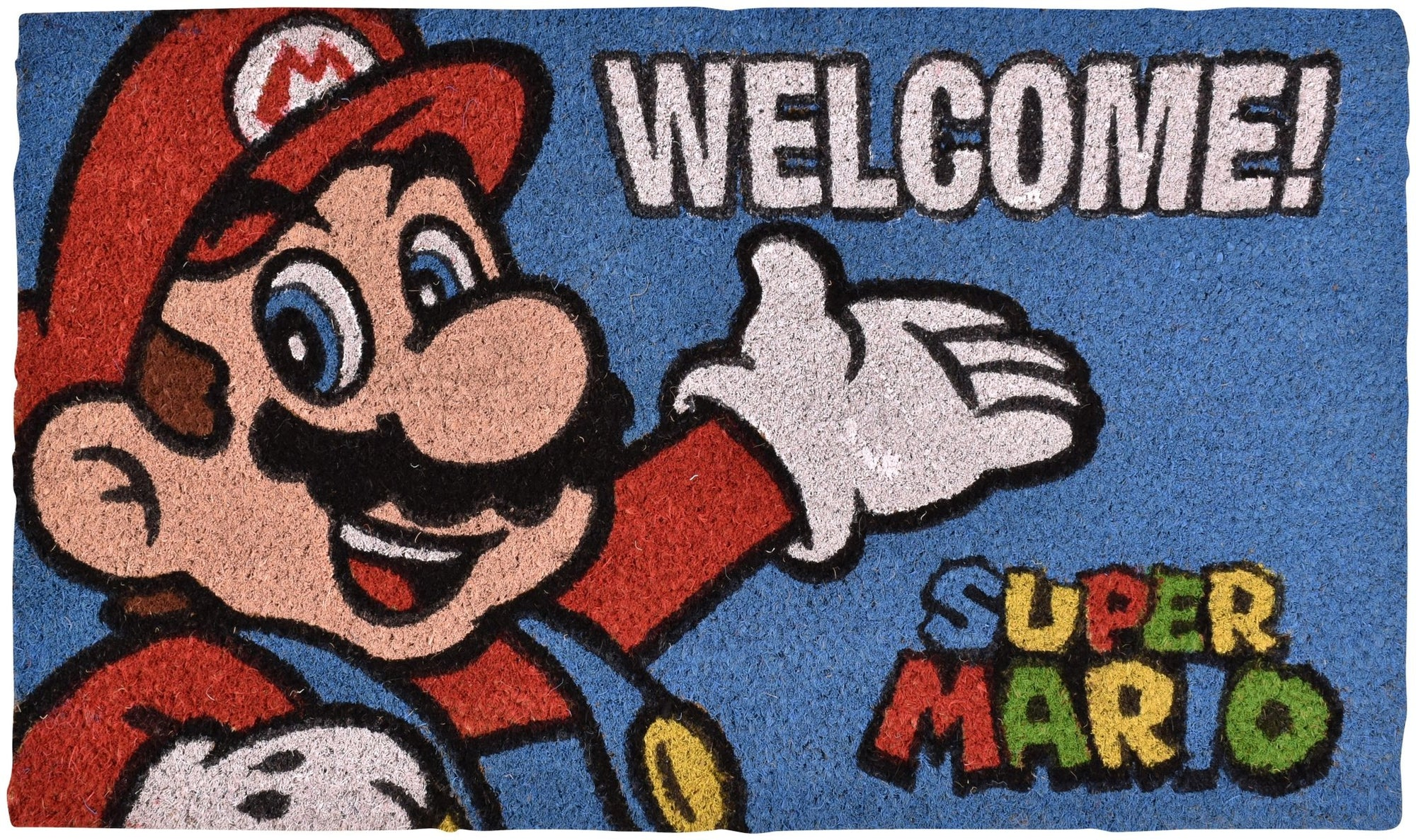 NINTENDO SUPER MARIO WELCOME! MULTICOLOR DOORMAT - EvoRetro Lets Game
