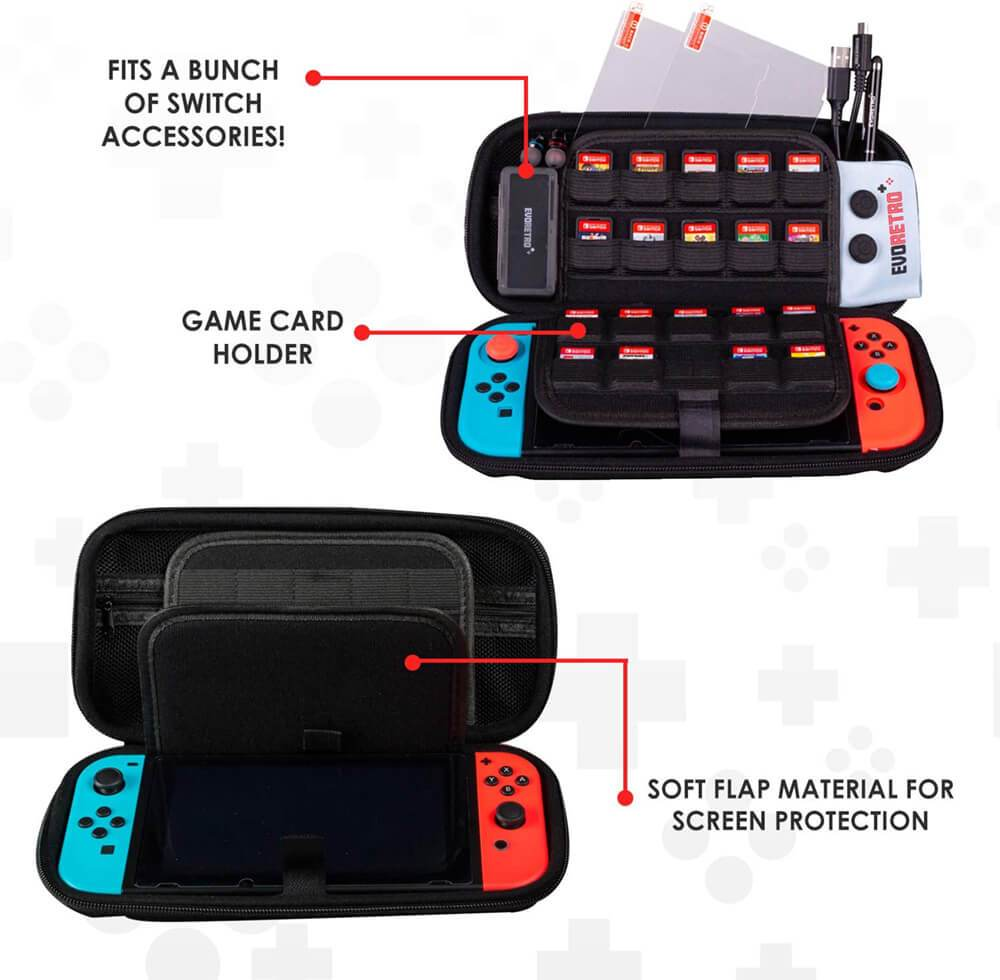 NINTENDO SWITCH ELEMENTARY STARTER KIT ACCESSORIES BLACK - EvoRetro Lets Game