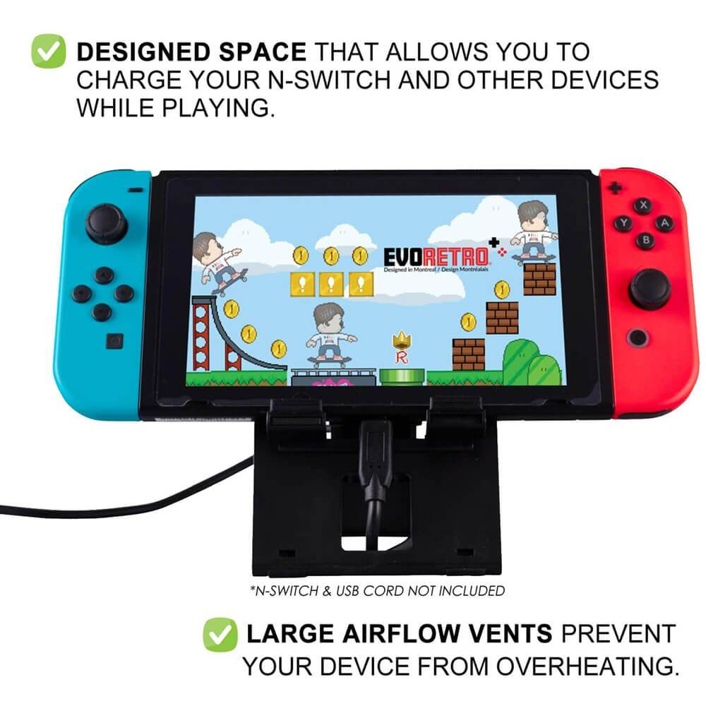 NINTENDO SWITCH FOLDING STAND BLACK - EvoRetro Lets Game