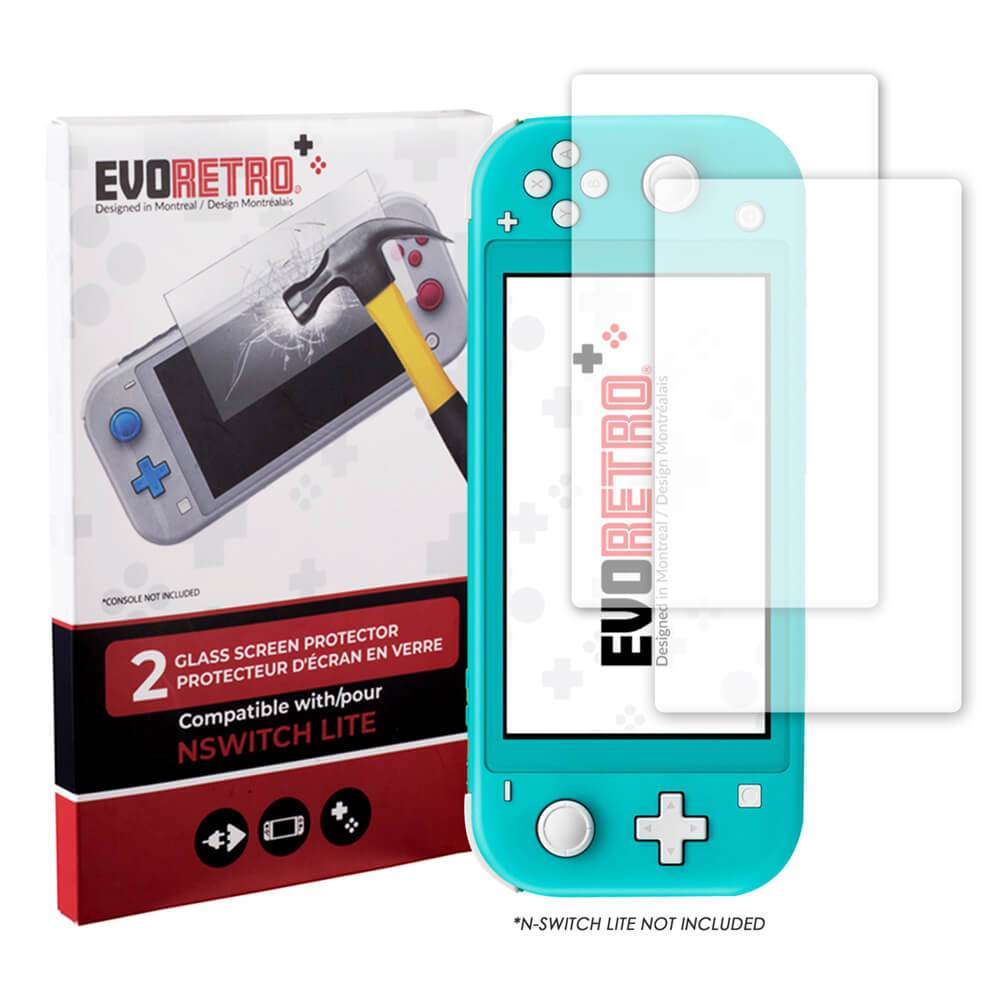 NINTENDO SWITCH LITE 2 PACK TEMPERED GLASS - EvoRetro Lets Game