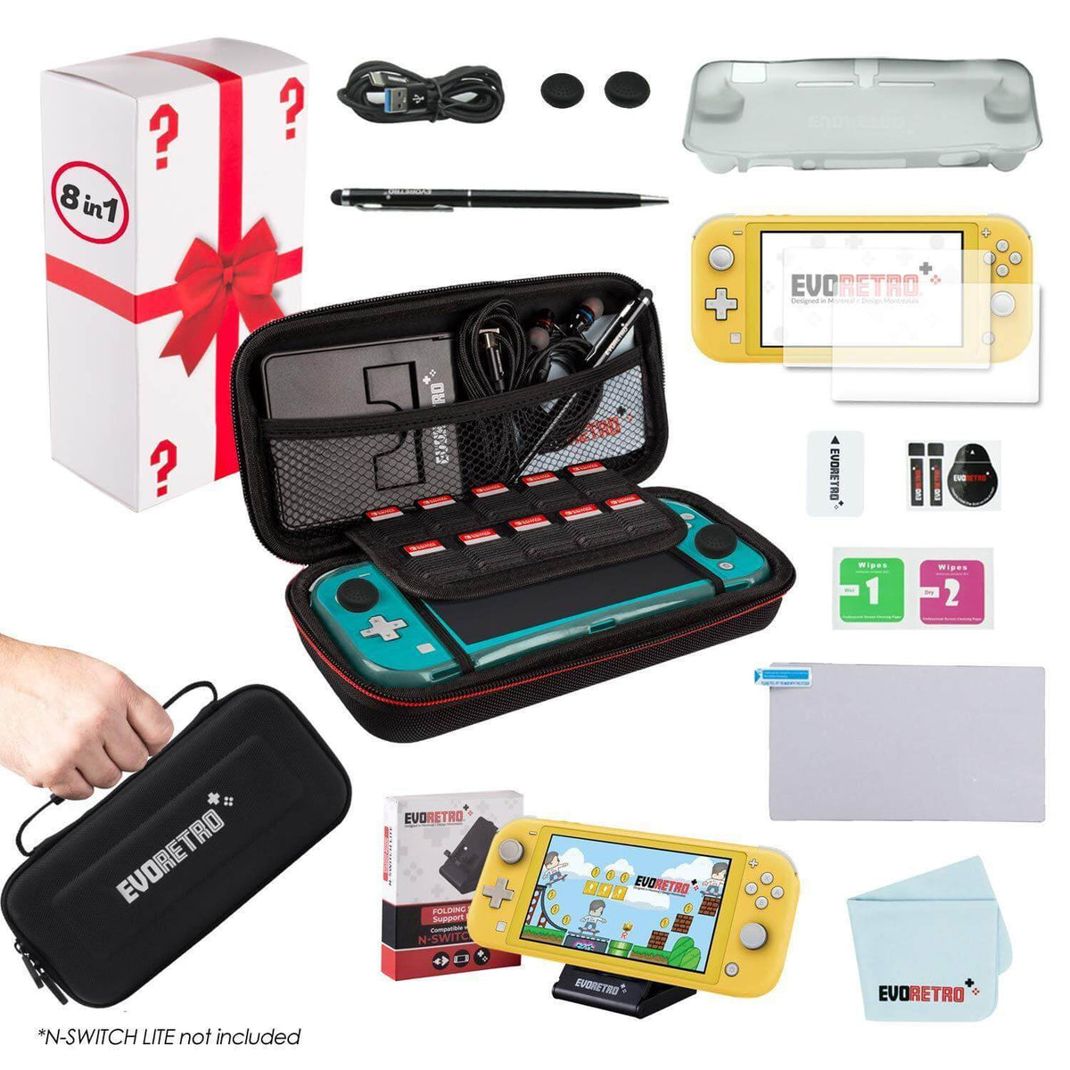 NINTENDO SWITCH LITE COMPLETE PROTECTIVE KIT - EvoRetro Lets Game