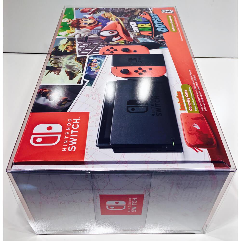 NINTENDO SWITCH MARIO ODYSSEY / SPLATOON 2 1 PACK CONSOLE PROTECTOR - EvoRetro Lets Game