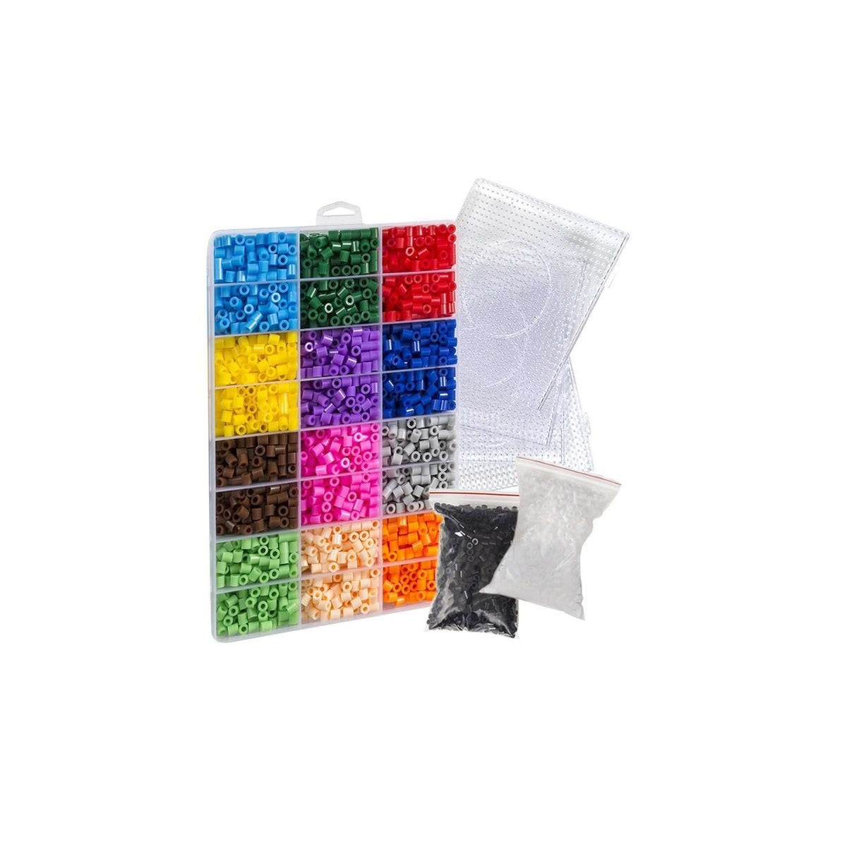 Pixel Art Fuse Bead Kit (Compatible with Perler) (6800 Beads) - EvoRetro Lets Game