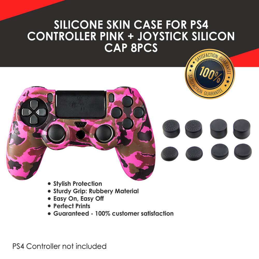 PLAYSTATION 4 CONTROLLER SILICONE SKIN COVER 8 PIECES THUMBSTICK CAPS SET - EvoRetro Lets Game