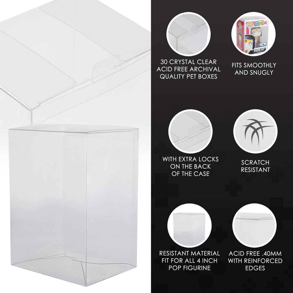 "PROTECTIVE FUNKO POP 4"" DISPLAY CASES - EvoRetro Lets Game"
