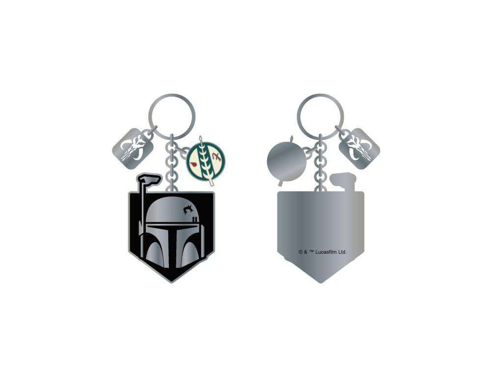 STAR WARS BOBA FETT METAL KEYCHAIN - EvoRetro Lets Game