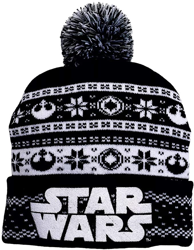 STAR WARS LOGO WINTER ADULT BEANIE BLACK AND WHITE - EvoRetro Lets Game