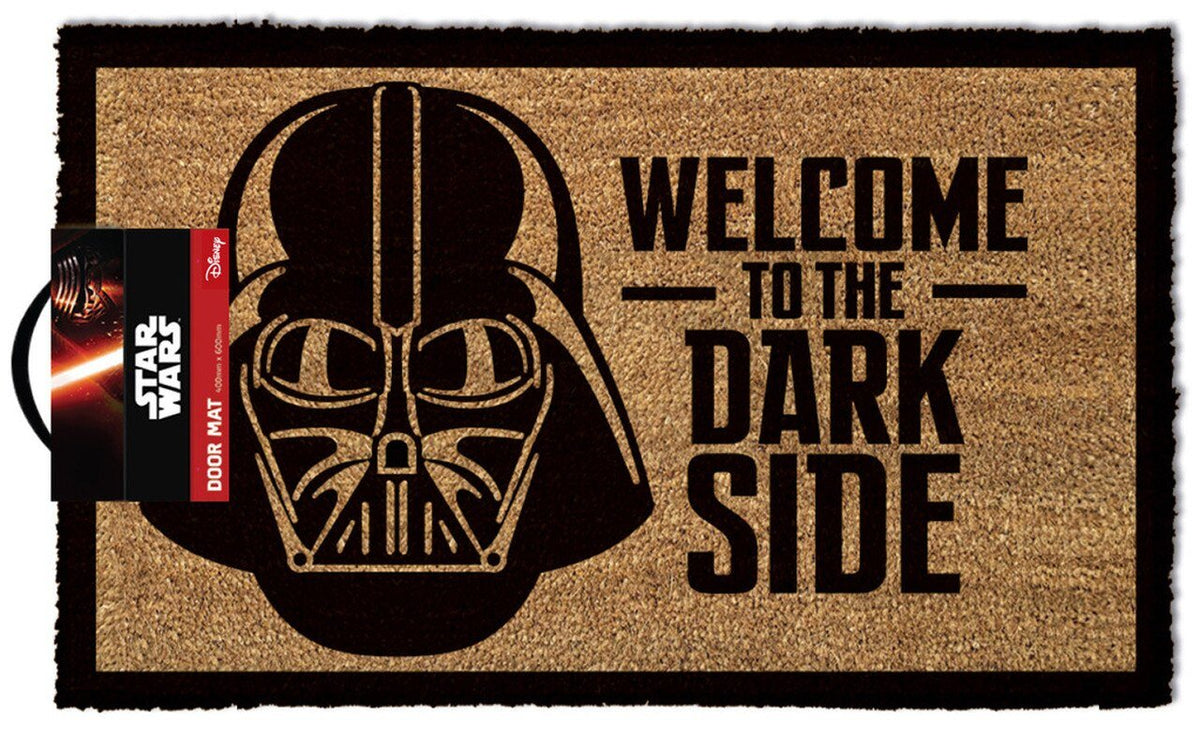 STAR WARS WELCOME TO THE DARKSIDE OUTDOOR DOORMAT - EvoRetro Lets Game