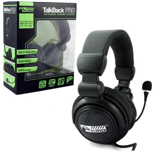 TALKBACK PRO UNIVERSAL GAMING HEADSET - XBOX 360, PS2, PS3, PC, AND MAC PLATFORMS - EvoRetro Lets Game