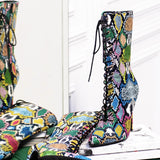 ANICE MULTI COLOR SNAKESKIN ANKLE BOOTIE