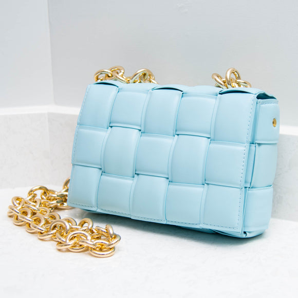 GOT THE BLUES QUILTED CROSSBODY