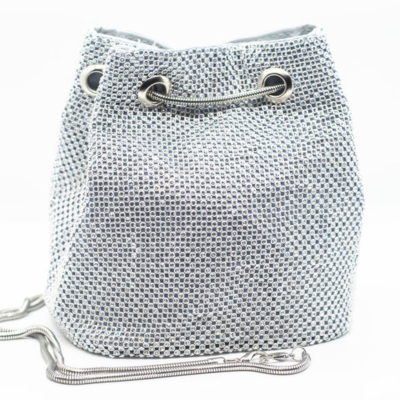 SO ICY BLINGED OUT BUCKET BAG BLACK