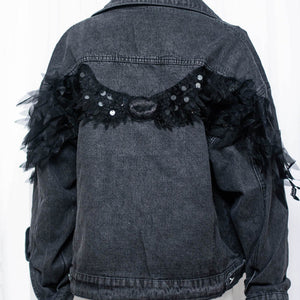 FLY HIGH BLACK DENIM JACKET