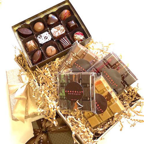 Gift Collection - 12-Truffle assortment and Avant-Gard Bars