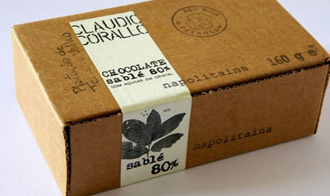 Chocolate 80% with sugar crystals - 160g