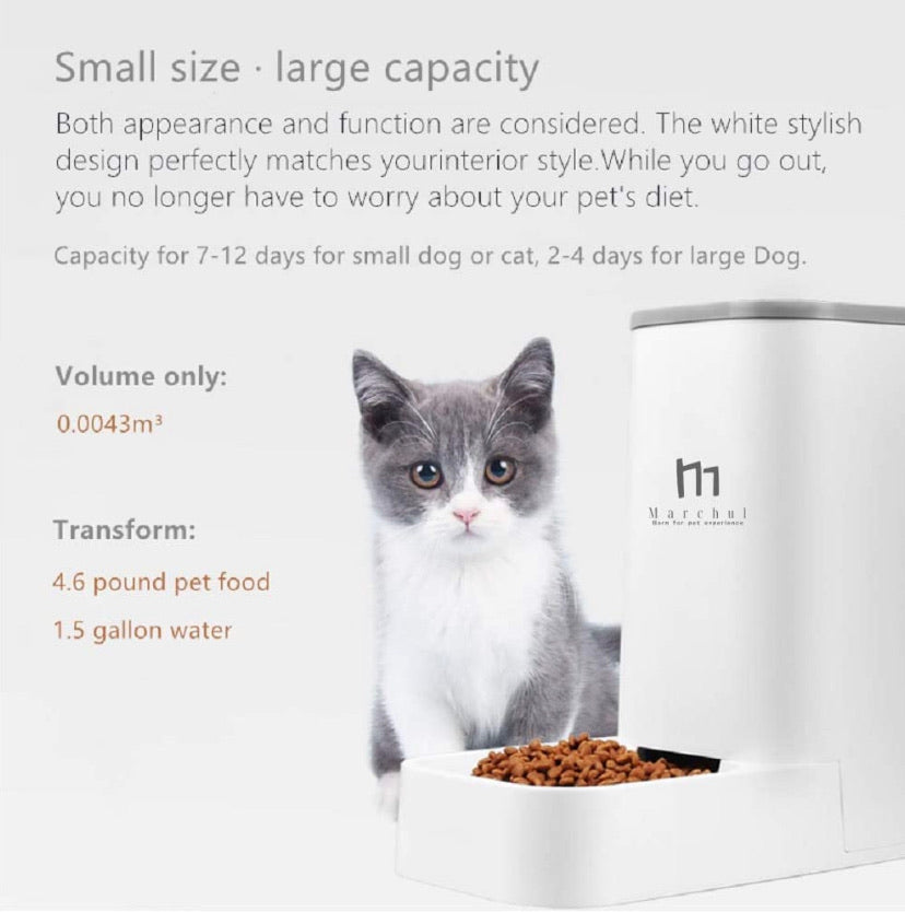 Cat Dog Self-Dispensing Pet Feeder and Waterer