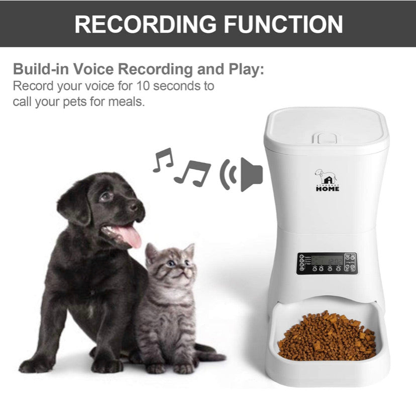 Automatic Pet feeder with timer and voice recording