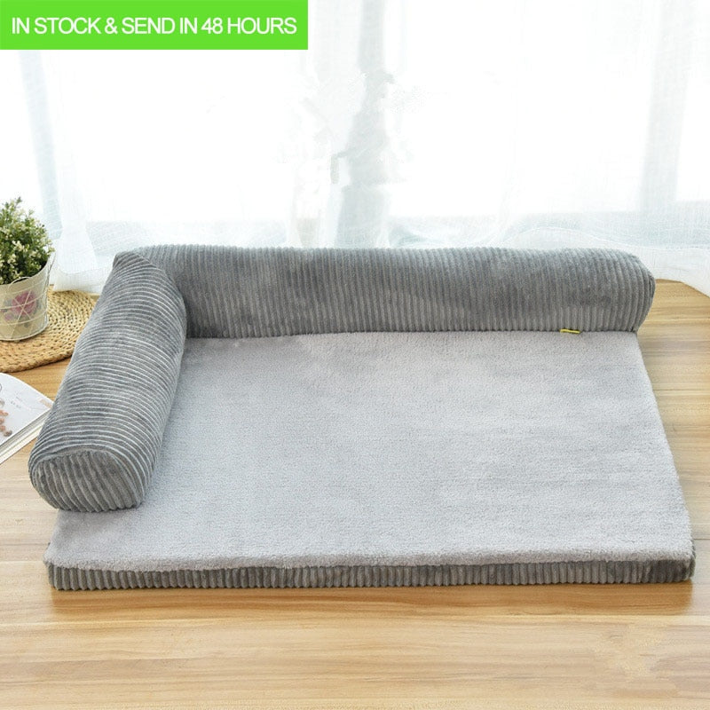 Luxury Large Dog Bed Sofa Dog | Modern Cushion For Big Dogs | Washable Dog Square Pillow