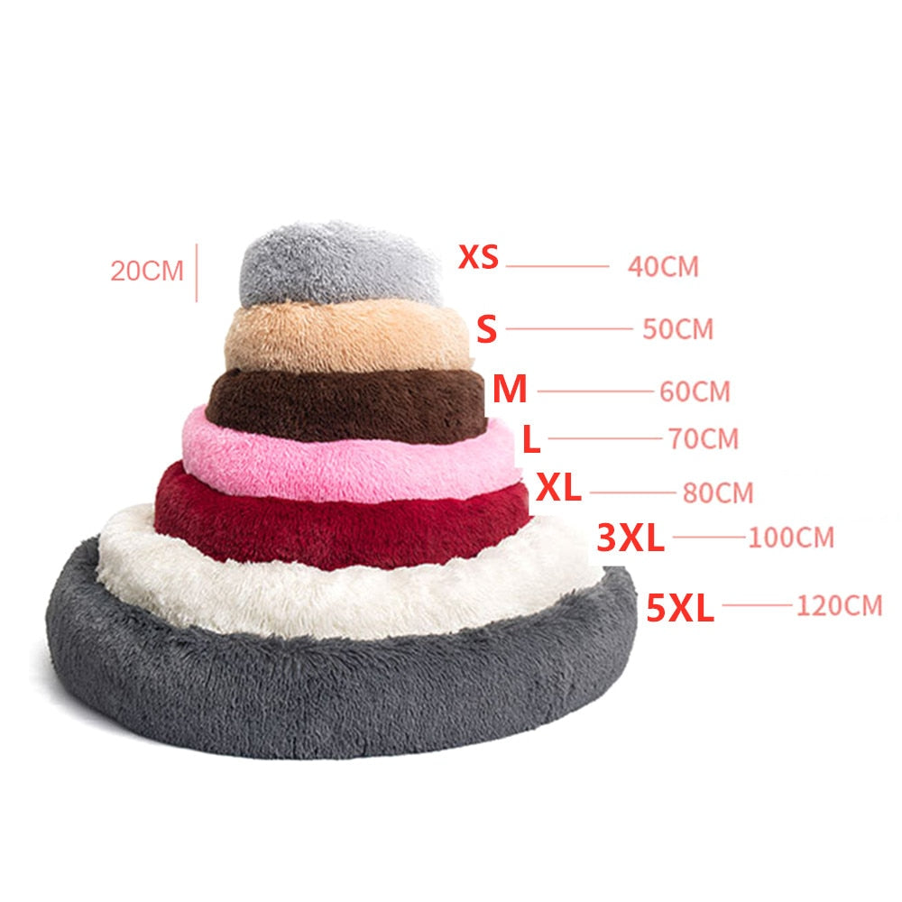 Soft Donut Dog Bed | Fluffy Dog Bed For Dogs | Round Soft Plush Dog Sofa | Sizes XS - 5XL