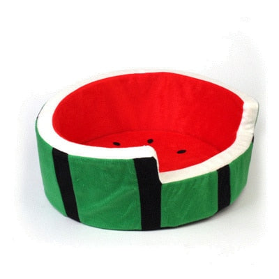 Watermelon Pet Nest | Fruit Cotton Pet Bed | Cat or Dog Pet Bed