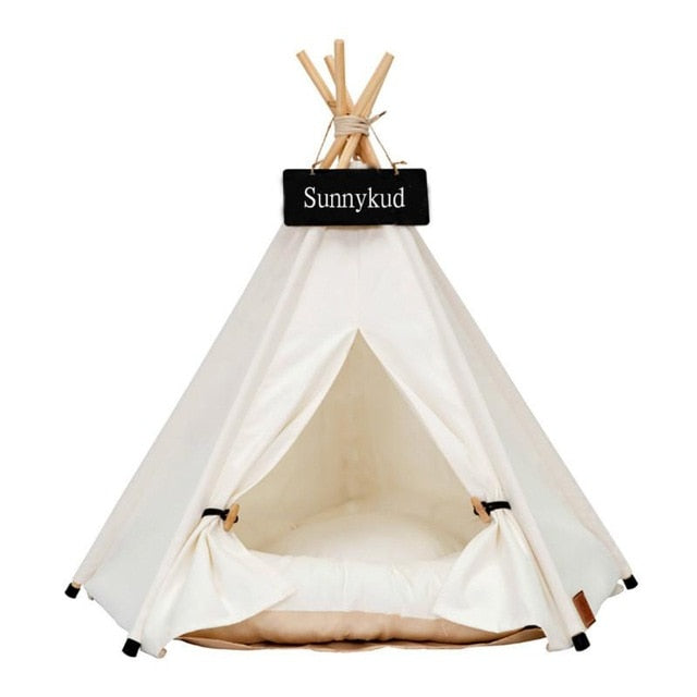 Dog Tent House | Cat Tent Tepee | Portable Pet Tepee With Thick Cushion |  Available in 6 Colours
