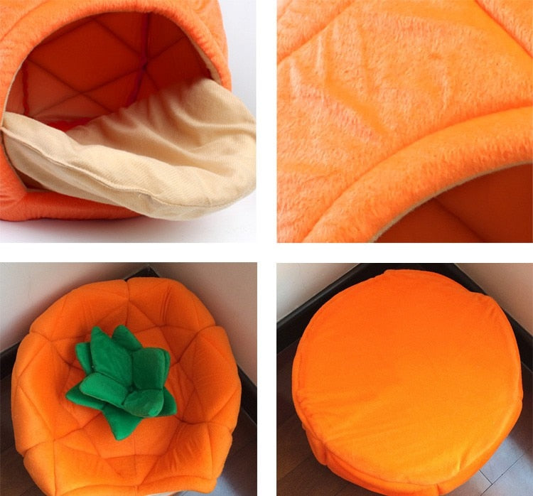 Pineapple Pet Nest | Fruit Cotton Pet Bed | Cat or Dog Pet Bed