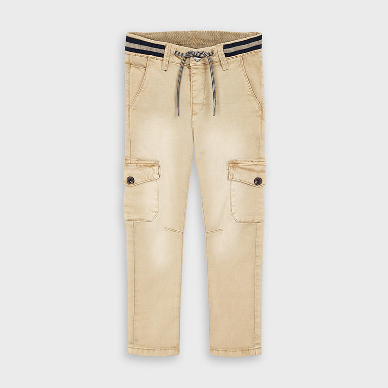 Banded Waist Cargo Pants