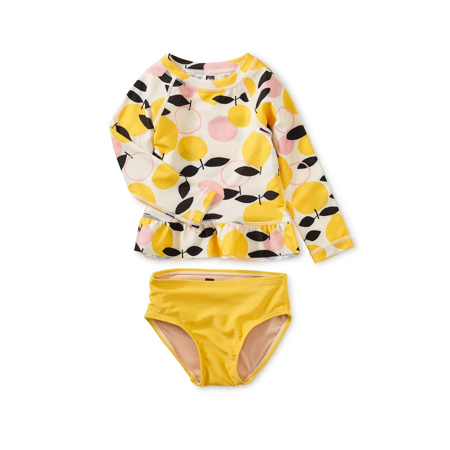 Lemon Drop Baby Rash Guard Set